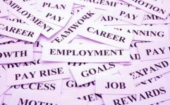 Employment! Career Word Theme.